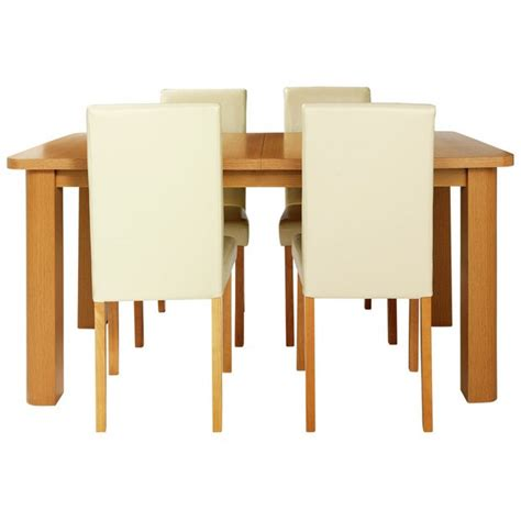 Buy HOME Heyford Extendable Dining Table and 4 Argos