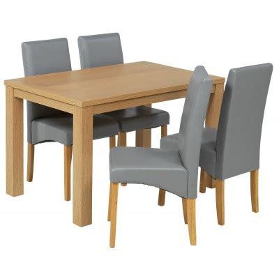Buy HOME Hillingdon Oak Veneer Table 4 Chairs Argos