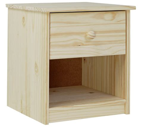 Buy HOME Jakob 1 Drawer Bedside Chest Pine at Argos co