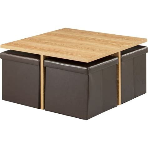 Buy HOME Ohio Ottoman Coffee Table Black at Argos