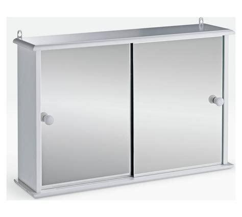 Buy HOME Sliding Door Bathroom Cabinet White at Argos co