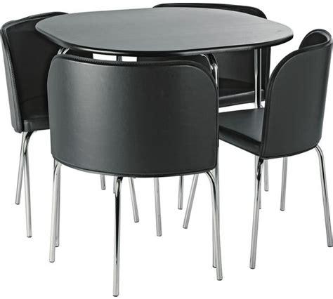Buy Hygena Amparo Dining Table 4 Chairs Black at Argos