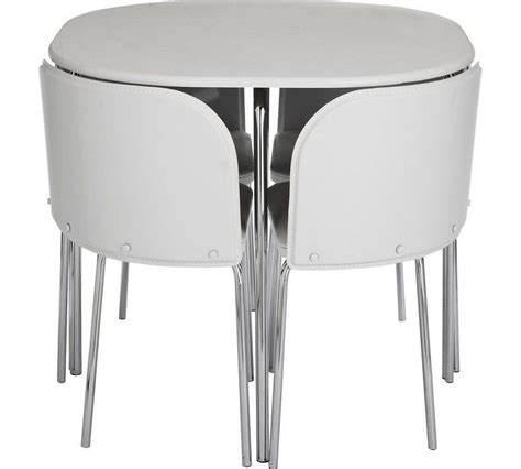 Buy Hygena Amparo Dining Table 4 Chairs White at Argos