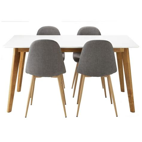 Buy Hygena Beni Dining Table and 4 Chairs Grey at Argos
