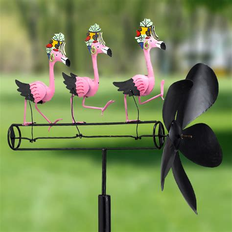 Buy the Gift Essentials Dancing Flamingo Whirligig Wind