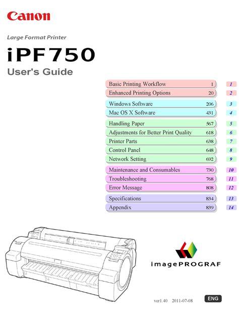 CANON IPF750 SERIES SERVICE MANUAL Pdf Download