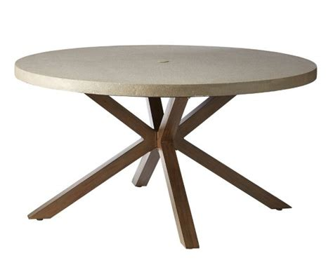 CANVAS Seabrooke Round Concrete Patio Dining Table