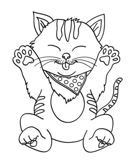 CAT coloring pages 45 free Pets and animals coloring