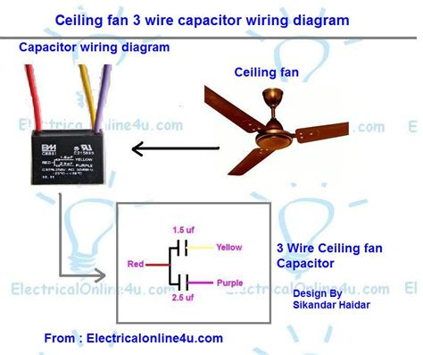 Motor with capacitor wiring diagram impremedia ceiling fan motor capacitor wire diagram ceiling circuit asfbconference2016 Gallery