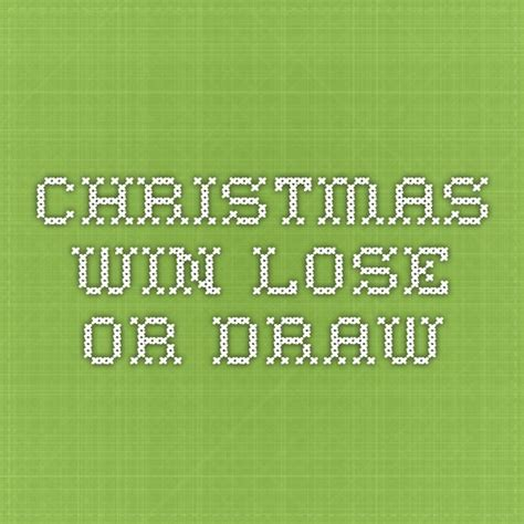 CHRISTMAS WIN LOSE OR DRAW Scouting Web
