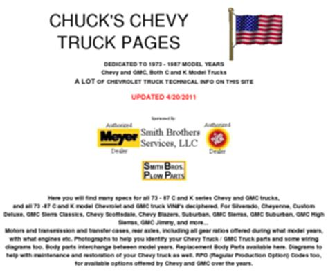 CHUCK S CHEVY TRUCK PAGES COM HOME PAGE 1973 1987