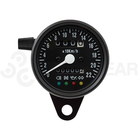 Cafe Racer LED Mini Speedometer Third Gear