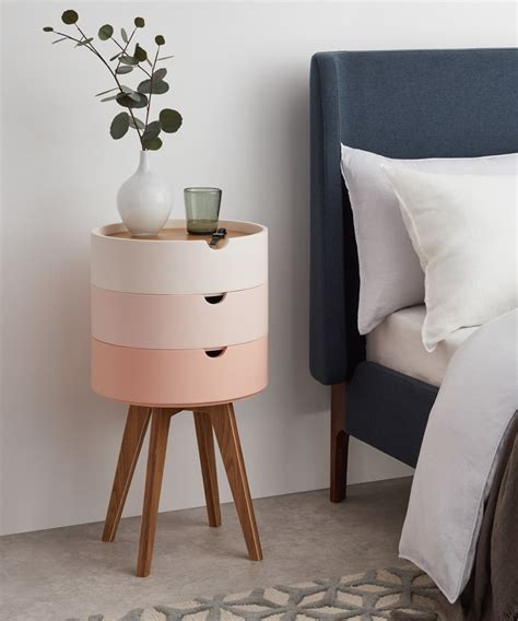 Cairn Bedside Table Pink made