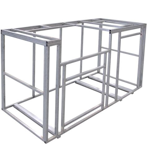 Cal Flame 6 ft Outdoor Kitchen Island Frame Kit KD F6002