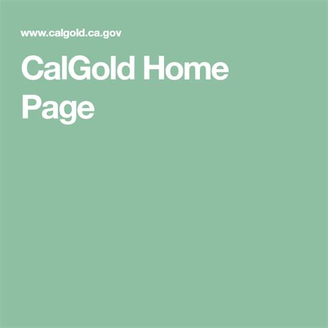 CalGold Home Page