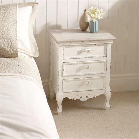 Camille Ivory 3 Drawer Bedside Table Dunelm