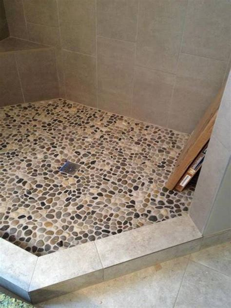 Can I put pebble tile on shower floor Houzz
