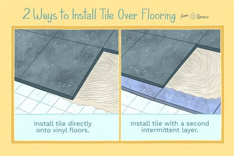 Can You Install Tile Over Vinyl Flooring The Spruce