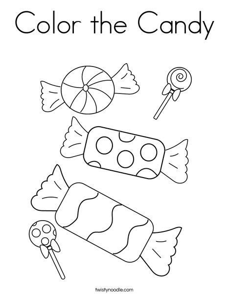 Candy Coloring Page Twisty Noodle