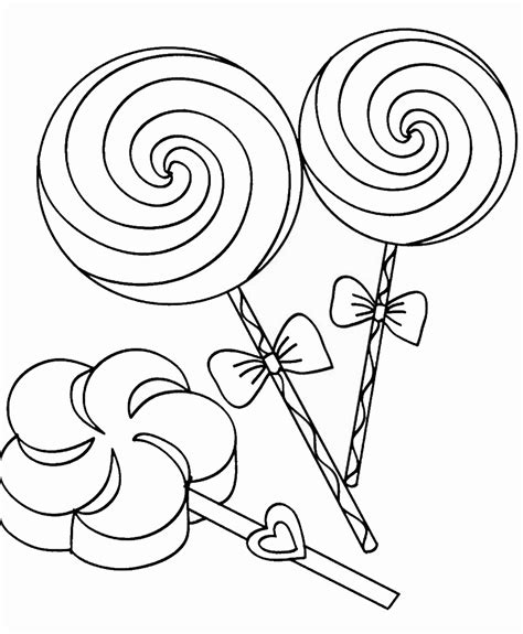 Candy and Sweets Coloring Pages Surfnetkids