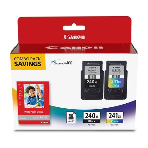 Canon Fine Cartridge PG 240XL CL 241XL with Photo Paper