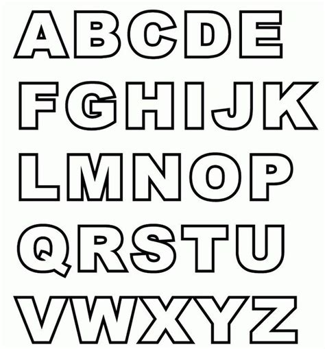 Capital Alphabet Coloring Pages Free and Printable