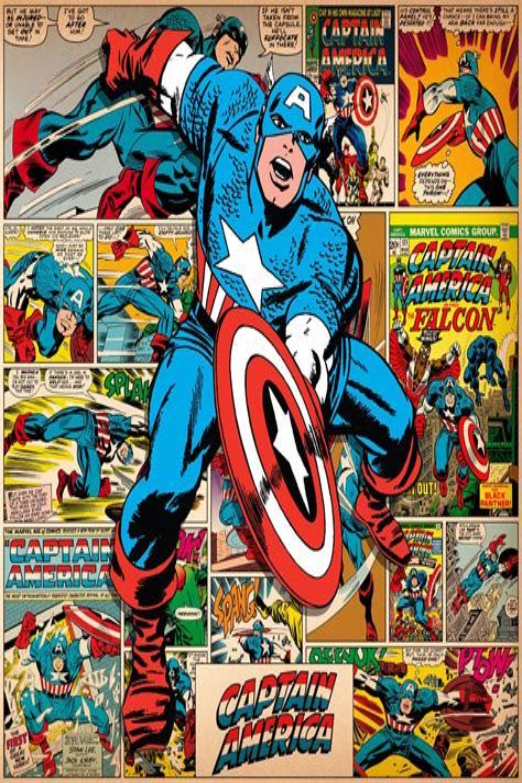 Captain America Comic Print at AllPosters