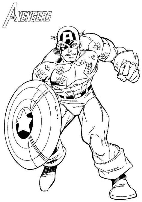 Captain America Free Printable Coloring Pages for Kids