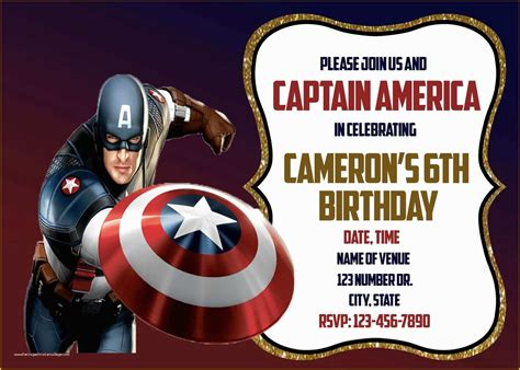Captain America Free Printable Invitations Is it for
