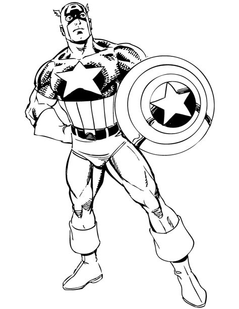 Captain America coloring pages on Coloring Book info