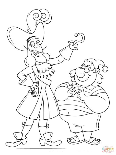 Captain Hook And Mr Smee coloring page Free Printable