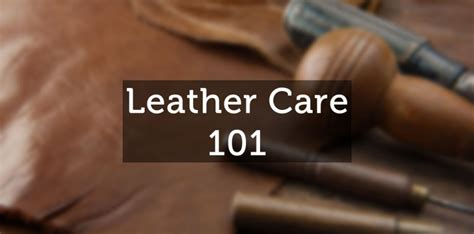 Care Instructions for Leather Urban Mode