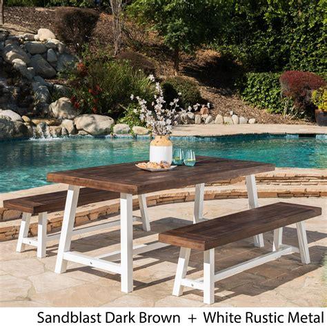 Carlisle Rustic 3 Piece Wood Patio Dining Set Target