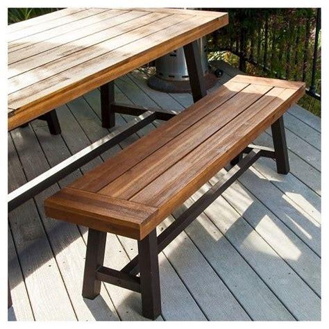 Carlisle Rustic 3pc Wood Patio Dining Set Brown Black