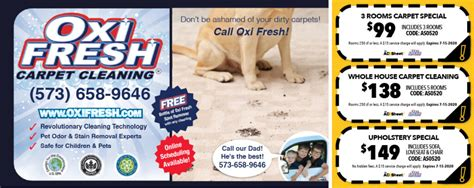 Carpet Cleaning Coupons Oxi Fresh