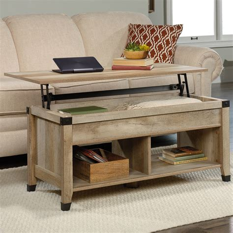 Carson Forge Lift Top Coffee Table Coffee Oak Sauder