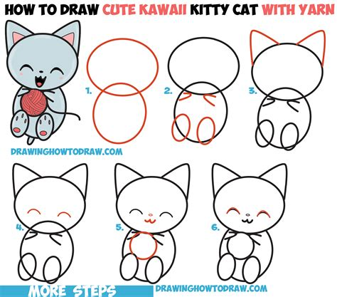 Cartoon Cat Step by Step Drawing Lesson