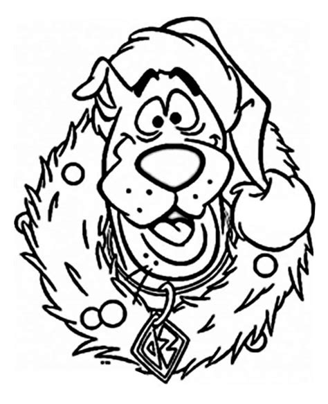 Cartoon Characters Christmas Coloring Pages