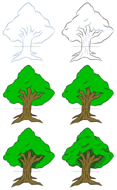 Cartoon Tree Drawing Lesson How to Draw Cartoons