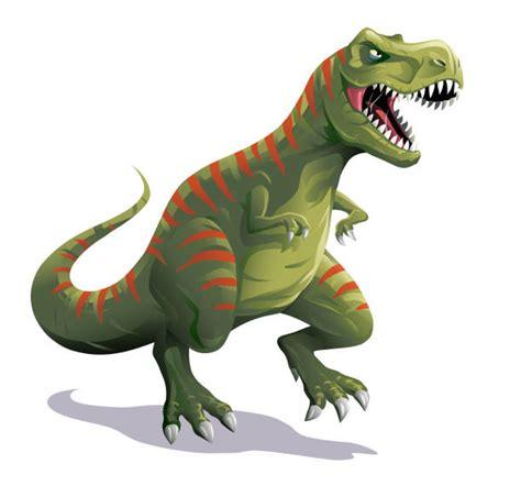 Cartoon of a Green T Rex Dinosaur Royalty Free Vector