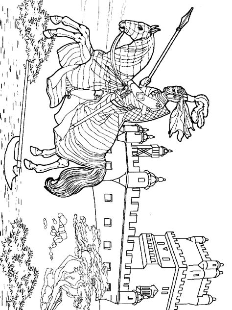 Castles and Knights Colouring Sheets Knights Castles