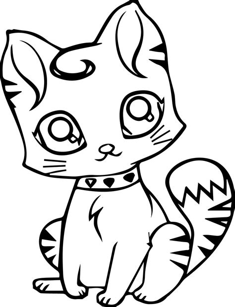 Cat Coloring Pages for kids HonkingDonkey
