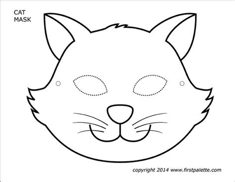 Cat Mask Printable Templates Coloring Pages