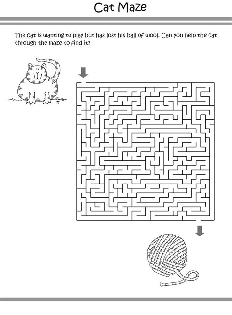 Cat Printables Cat Coloring Pages Worksheets Puzzles
