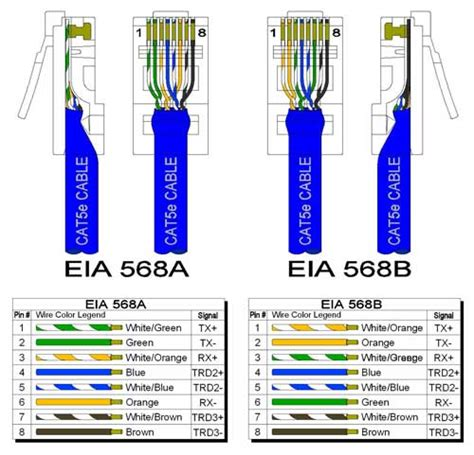 cat5e rj45 socket wiring diagram images rj wall socket wiring cat5e cable wiring schemes and the 568a and 568b wiring
