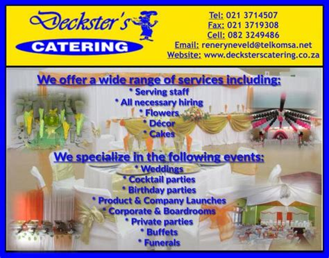 Catering Cape Town Deckster s Catering