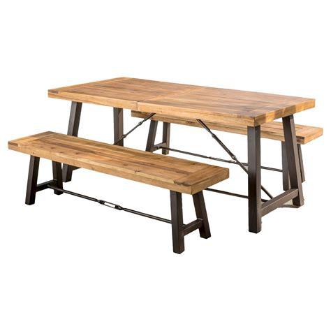 Catriona 3pc Acacia Wood Picnic Table Teak Finish
