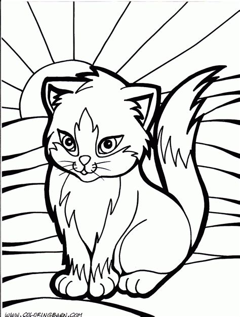 Cats Coloring Pages Kittens