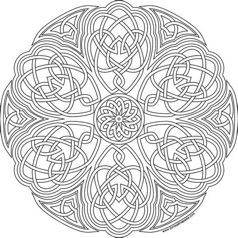 Celtic Mandala with Flower coloring page Free Printable