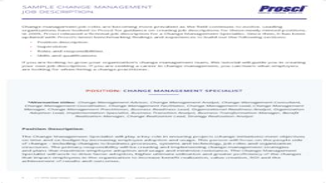 Change Management Job Roles And Titles Prosci